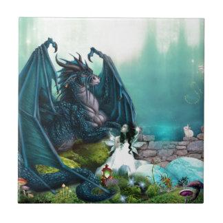 Fantasy Dragon and Fairy Tile