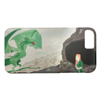 Fantasy Dragon and girl iPhone 8/7 Case