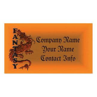 fantasy dragon business cards