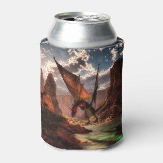 Fantasy dragon in the mountains can cooler