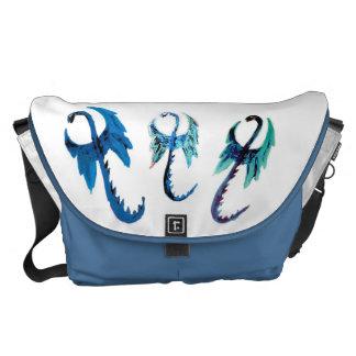 Fantasy Dragons Art Messenger Bags