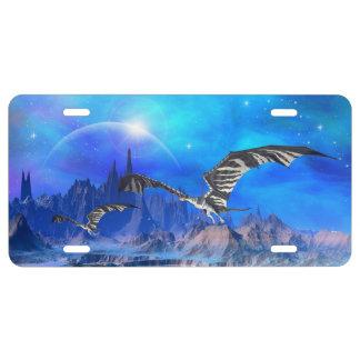 Fantasy Dragons License Plate