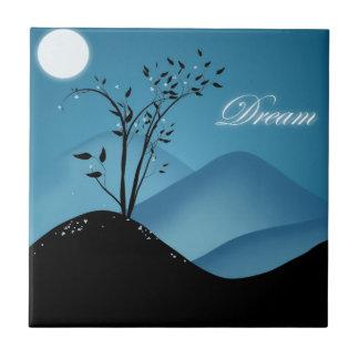 Fantasy dream tree ceramic tile