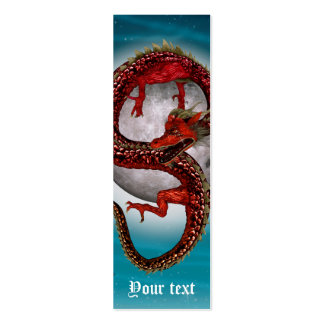 Fantasy Eastern Red Dragon Pack Of Skinny Business Cards