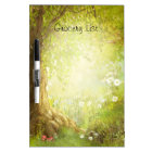 Fantasy Enchanted Forest Land Grocery List Dry Erase Board
