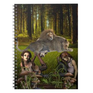 Fantasy Fairy Tale Woods Scene Notebook
