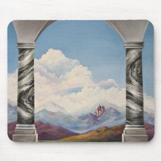 Fantasy Fairytale Painting Glinda's Castle Mouse Pad
