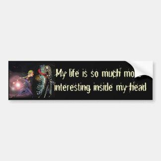 Fantasy Female Elfen Battle Cleric Bumper Sticker