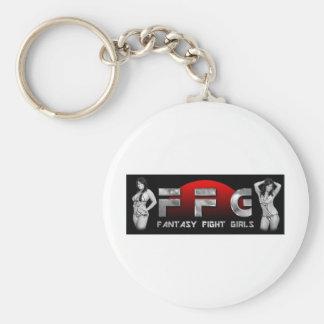 Fantasy Fight Girls 1 Basic Round Button Key Ring