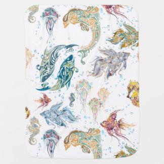 Fantasy Fish 1 - Baby Blanket