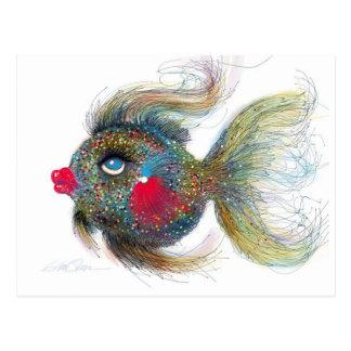 Fantasy Fish: Kissiefish Post Cards