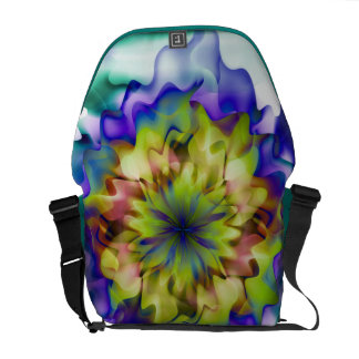 Fantasy Flower by Christine Bässler Messenger Bag