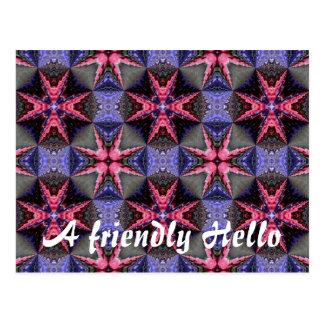 Fantasy flower garden, A friendly Hello Postcard