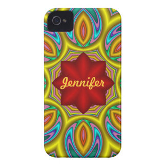 Fantasy Flower iPhone 4 case with Name