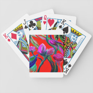 Fantasy Flowers Bicycle Playing Cards