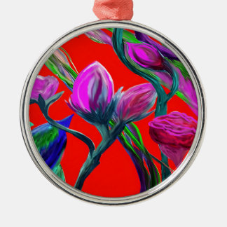 Fantasy Flowers Metal Ornament