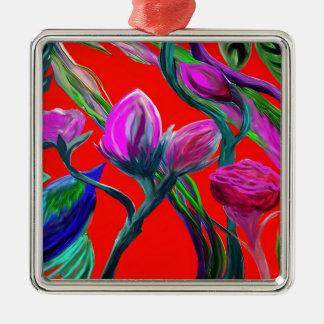 Fantasy Flowers Metal Ornament