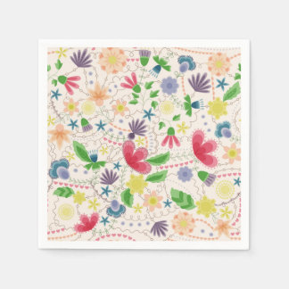 Fantasy flowers napkin disposable serviette