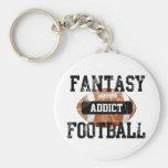 Fantasy Football Addict Basic Round Button Key Ring