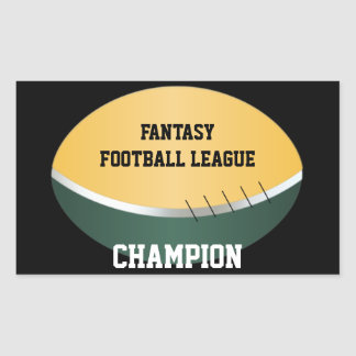 Fantasy Football Champ (customizable) Rectangular Sticker