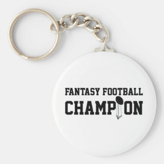 Fantasy Football Champion Basic Round Button Key Ring