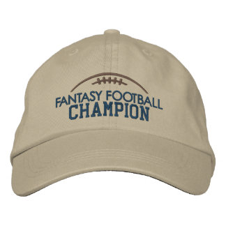 Fantasy Football Champion with Modern Football Embroidered Hat