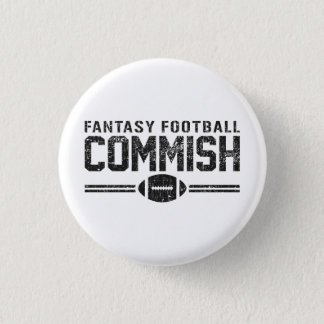 Fantasy Football Commish 3 Cm Round Badge