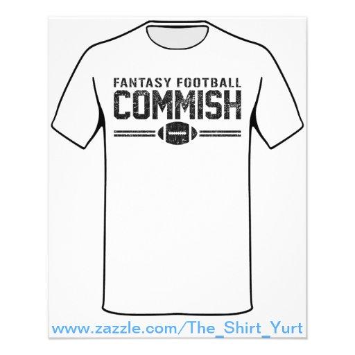 Fantasy Football Commish Custom Flyer