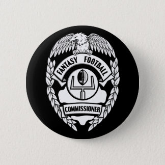 Fantasy Football Commissioner 6 Cm Round Badge