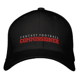 Fantasy Football Commissioner Hat Embroidered Baseball Caps
