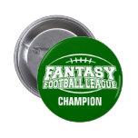 Fantasy Football FFL CHAMPION Button