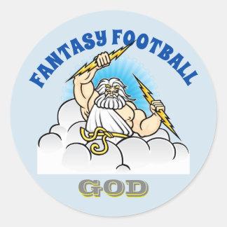 Fantasy Football GOD Classic Round Sticker
