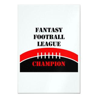 Fantasy Football 9 Cm X 13 Cm Invitation Card