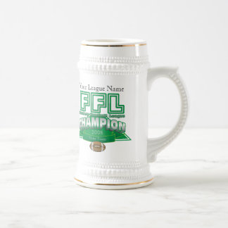 Fantasy Football League Trophy - Customized Beer Stein