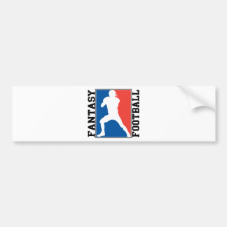 Fantasy Football, red white and blue Logo Bumper Sticker