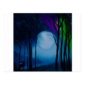 Fantasy forest art postcard