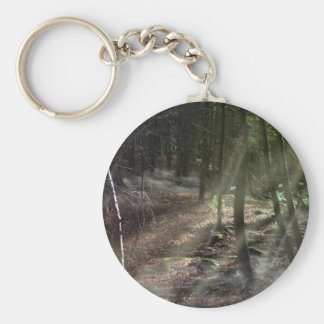 Fantasy Forest with Sunbeams Key Chains