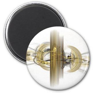 fantasy fractal 6 cm round magnet