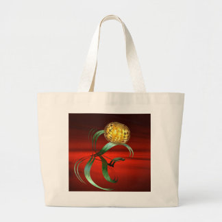 fantasy fractal on the red canvas bags