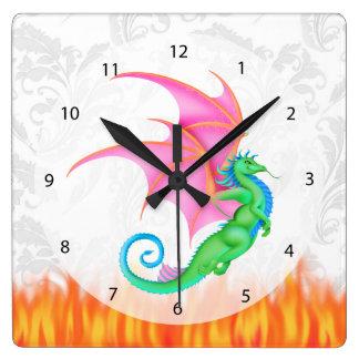 Fantasy friend square wall clock
