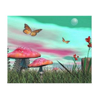 Fantasy garden - 3D render Canvas Print
