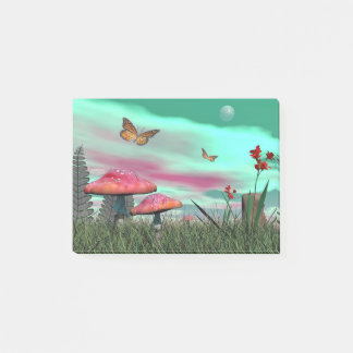 Fantasy garden - 3D render Post-it Notes