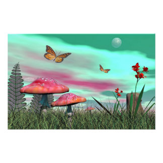 Fantasy garden - 3D render Stationery