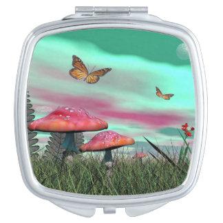 Fantasy garden - 3D render Travel Mirrors