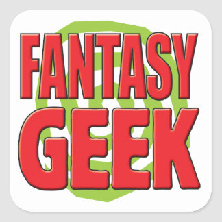 Fantasy Geek Square Stickers