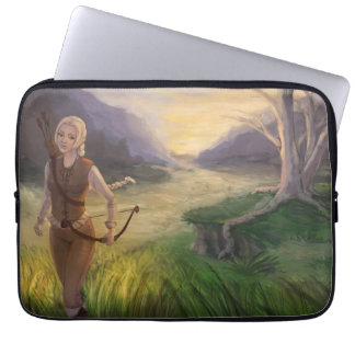 Fantasy Girl With Bow And Arrows Laptop Sleeve