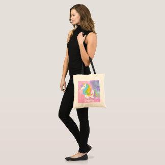 Fantasy girls add name tote bag