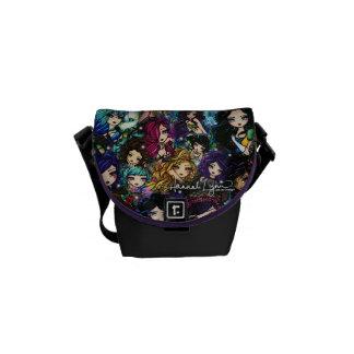 Fantasy Girls Mermaids Fairies Comic Art Commuter Bag