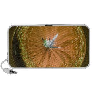 fantasy glass orb in orange speaker