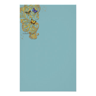 Fantasy Golden Scroll Stationery